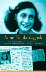 Bilden visar omslaget av boken Anne Franks dagbok.