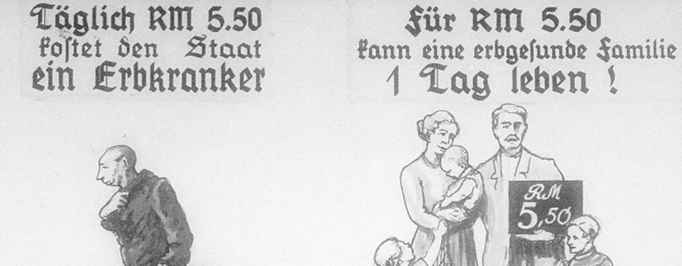 Bilden är en tecknad illustration, till vänster ser du en ensam man och till höger en familj med mamma, pappa och tre barn.