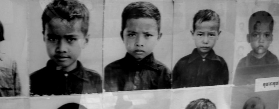 Bilden visar fyra porträttfoton på barn.