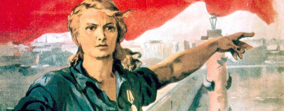 Affisch från Sovjettiden