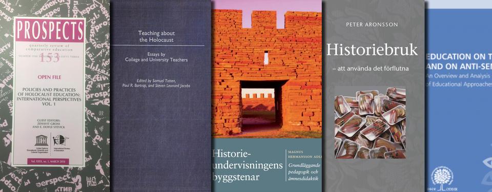 Bilden visar olika bokomslag.