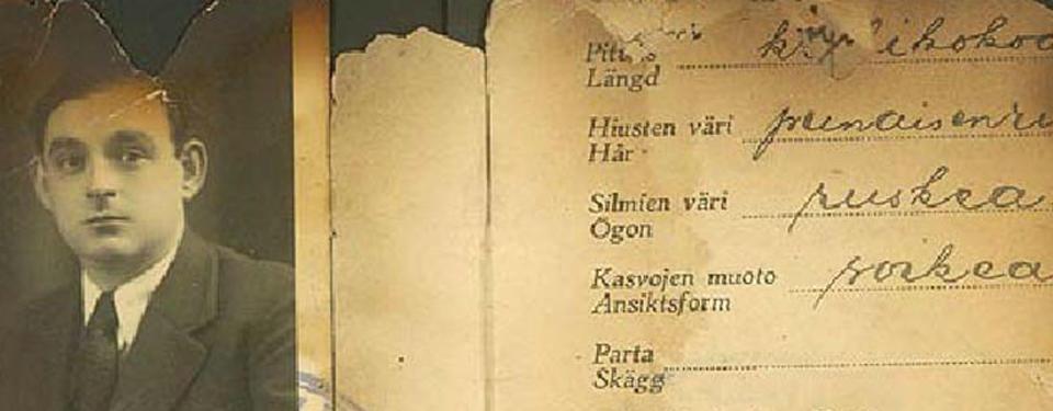 Finskt uppehållstillstånd med bild på Hans Szybilski.