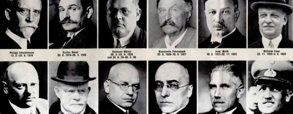 Bilden visar tolv porträttfoton av medelålders män.