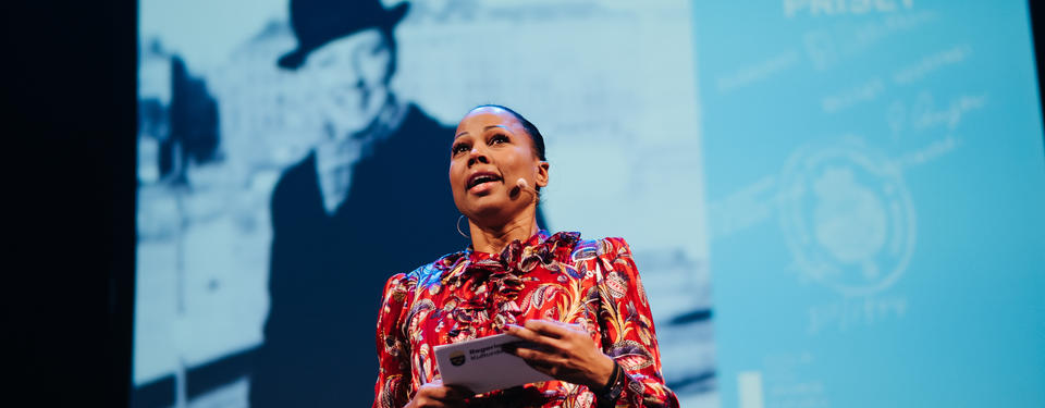 Kultur- och demokratiminister Alice Bah Kuhnke under prisutdelningen 2018. Foto: Juliana Wiklund.